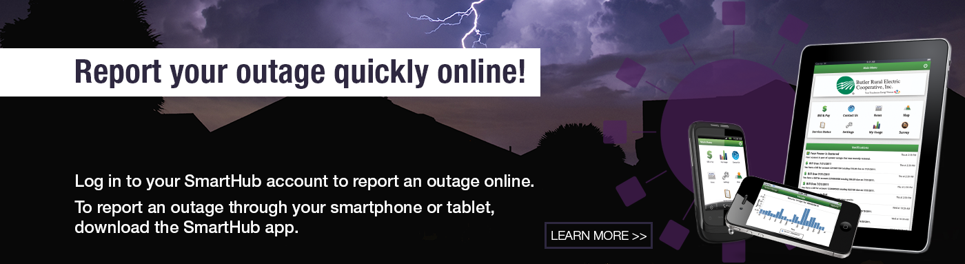 Report your outage quickly